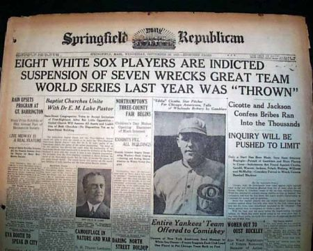 the black sox com gandil was able to convince several key white sox players to help him throw the world series this included star pitcher eddie ciocotte who signaled his