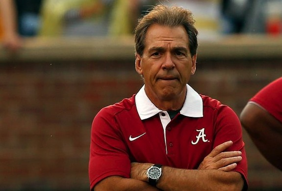 As always, Nick Saban looks absolutely thrilled.