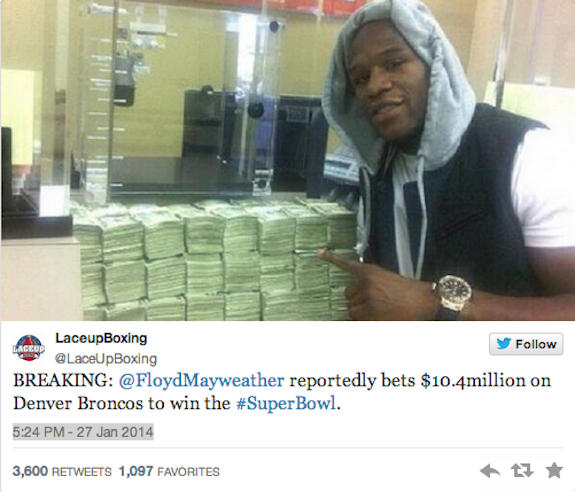 Floyd mayweather gambling grant west casino