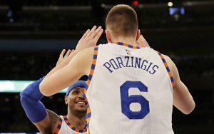 Kristaps Porzingis, Carmelo Anthony, Knicks