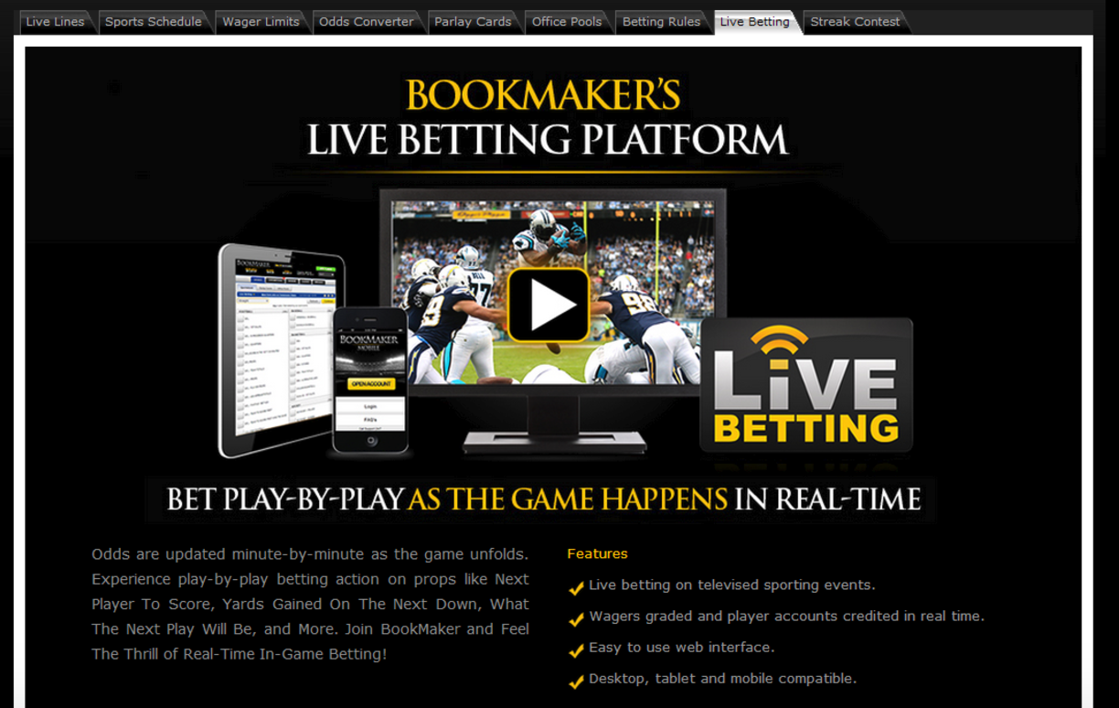 best online live betting
