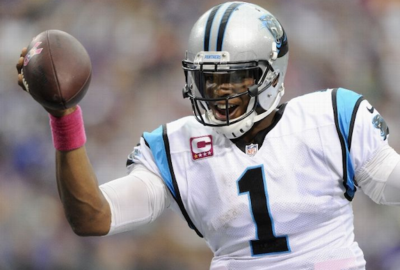 Cam Newton played like a man with something to lose.