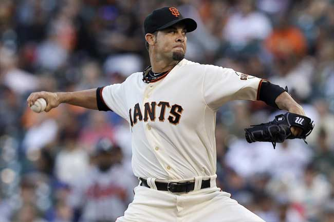 Ryan Vogelsong will look to lead the Giants into the NLCS.