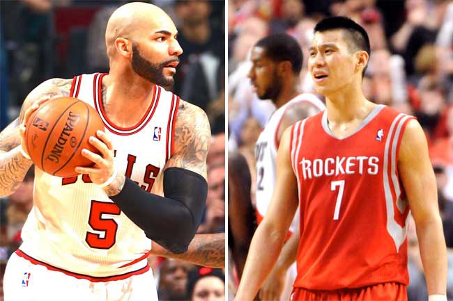 Carlos Boozer and Jeremy Lin are new additions to the side.