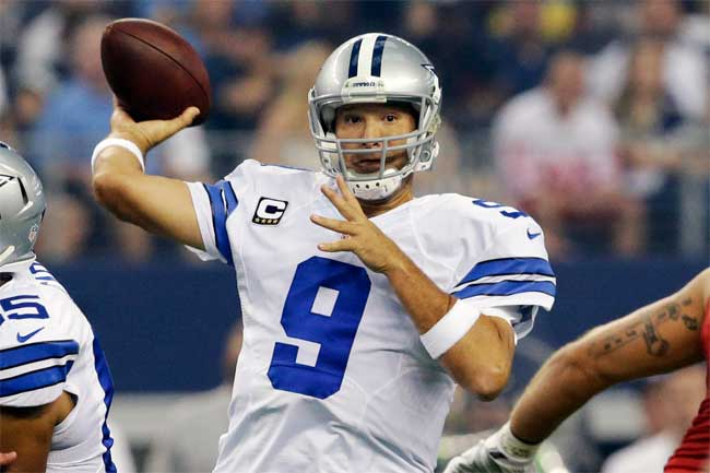 Tony Romo and the Dallas Cowboys take their unbeaten road record into Philadelphia for a crucial NFC East clash against the Eagles.